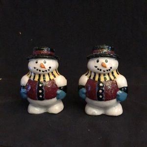Two Snowman Candles